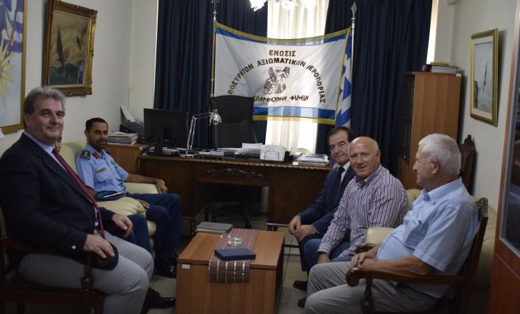 Συνάντηση γνωριμίας του αναπληρωτή Στρατιωτικού Ακόλουθου των Ηνωμένων Αραβικών Εμιράτων με τη ΕΑΑΑ