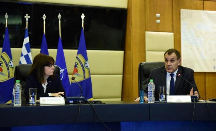 Επίσκεψη της ΠτΔ κ. Κατερίνας Σακελλαροπούλου στο ΥΠΕΘΑ