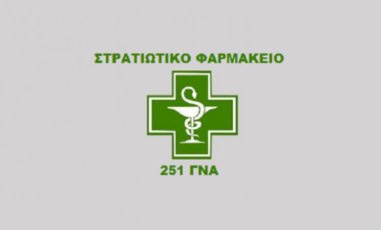 Τακτικές Οικονομικές Απογραφές Α' και Β' Τετραμήνου Στρατιωτικού Φαρμακείου 251ΓΝΑ και Υποκαταστήματος ΑΒ Ελευσίνας